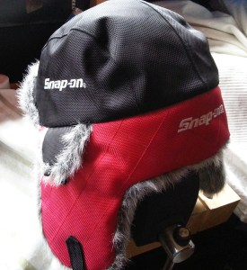 Snap on winter hat - saved me from disaster