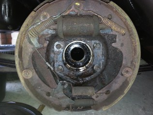 drive shaft removed with back plate in place