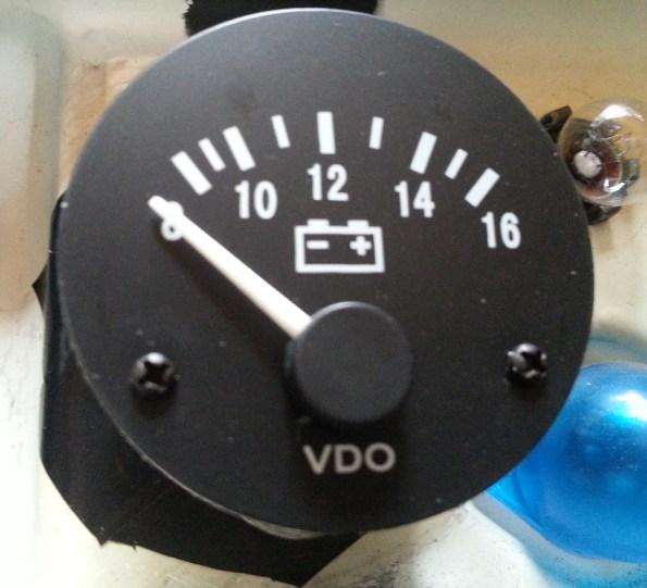 plain white needle on new gauge