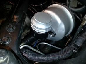 Steel brake line attached