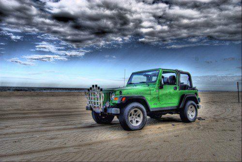 Jeep on Beach