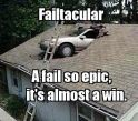 Car on the Roof Fail