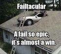 Car on the Roof Fail