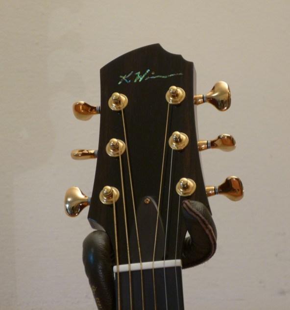 Kathy Wingert Model F Custom - headstock - guitar review at onemanz.com