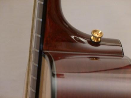 Kathy Wingert Model F Custom - neck joint - guitar review at onemanz.com