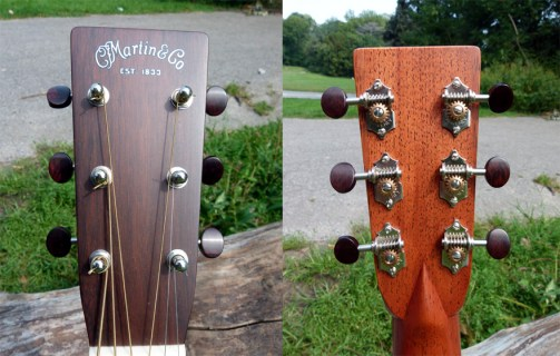 headstock and tuners Martin CS-21-11 review at onemanz.com