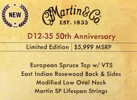 Martin HD-35 CMF IV 60th label