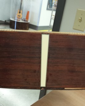 Martin 000-42 conversion end box work