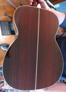 U 000-42 convert Brazilian rosewood back saw marks