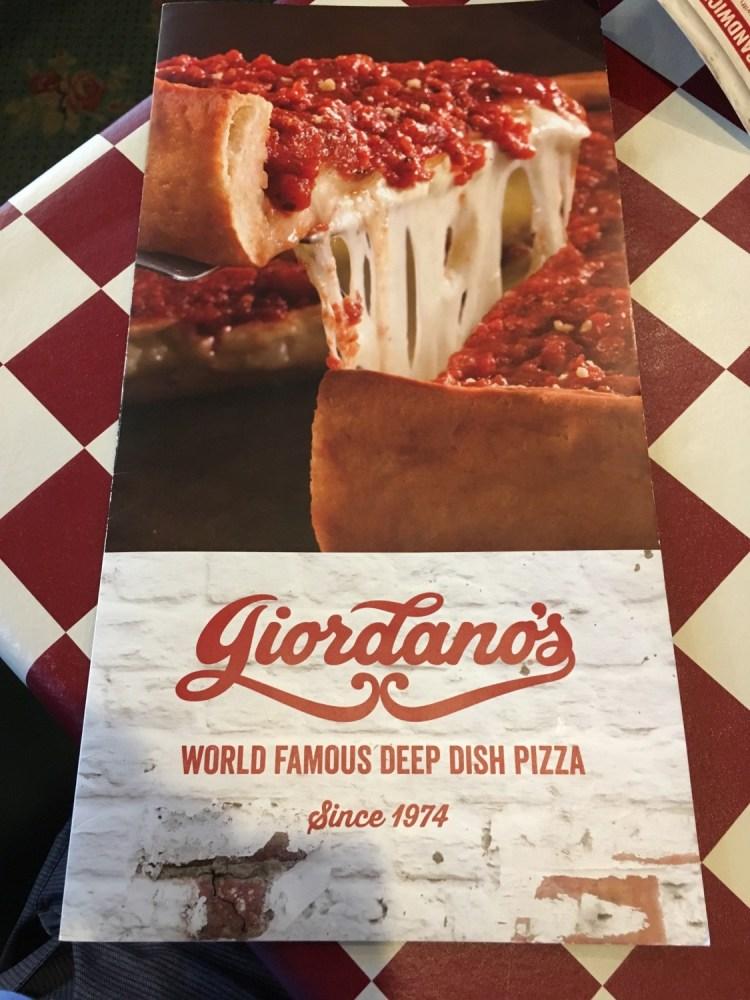 Giordanos deep dish pizza Chicago