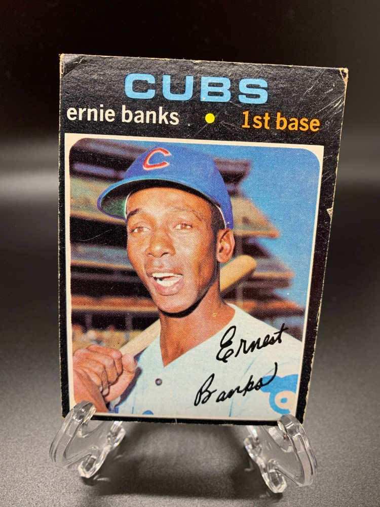 1971 Topps Ernie Banks Chicago Cubs Baseball Card