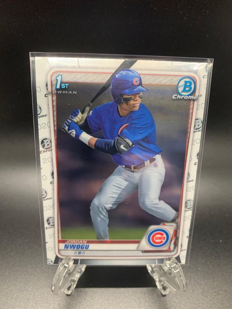 2020 Bowman Draft Jordan Nwogu Chicago Cubs baseball card
