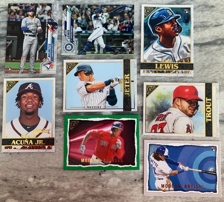 Baseball cards and Harry Caray Cubs memorabilia for Christmas