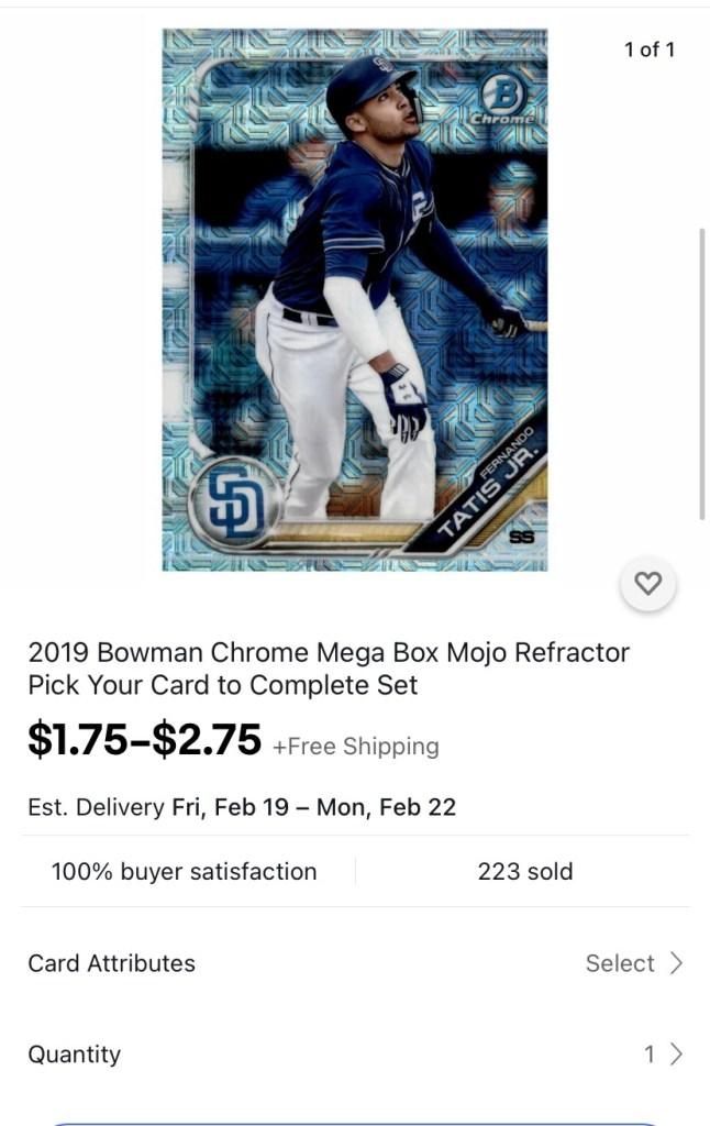 Cheap baseball card prices