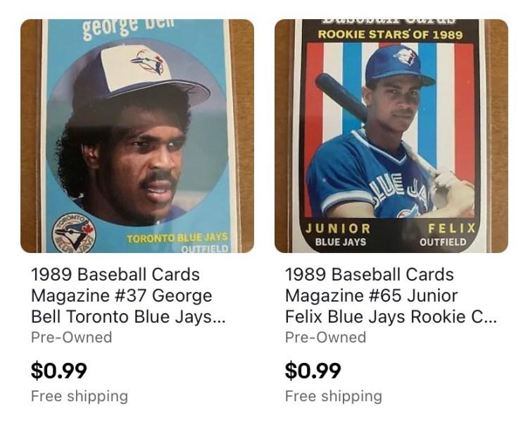 Oddball baseball cards from Baseball Cards Magazine