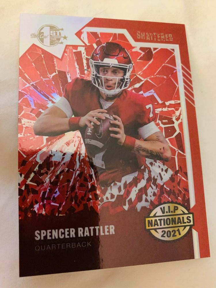 2021 Wild Card Spencer Rattler football card