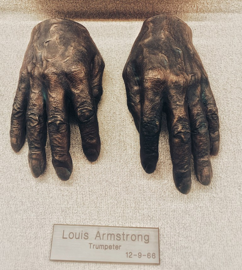 Louis Armstrong, Trumpeter:  The Hand Collection at Baylor Medical Center in Dallas, Texas