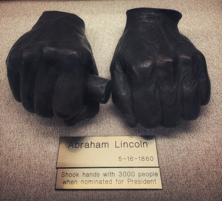 Abraham Lincoln:  The Hand Collection at Baylor Medical Center in Dallas, Texas