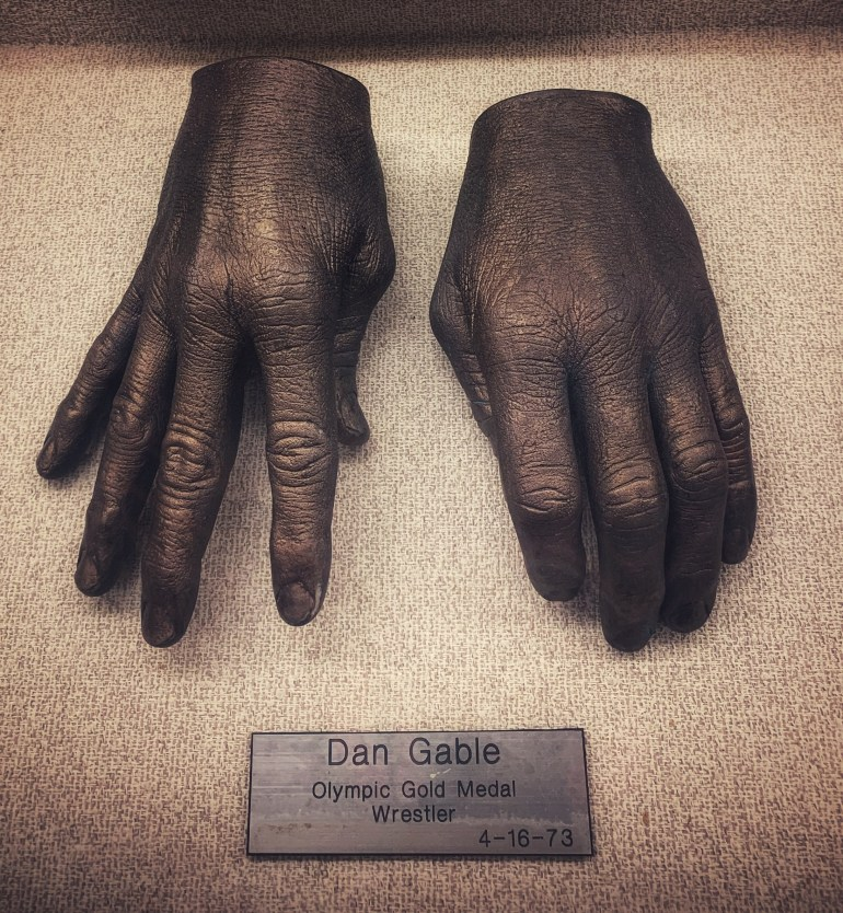 Dan Gable, Olympic Gold Medal Wrestler:  The Hand Collection at Baylor Medical Center in Dallas, Texas