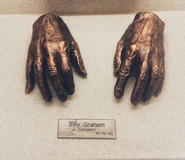 Billy Graham:  The Hand Collection at Baylor Medical Center in Dallas, Texas