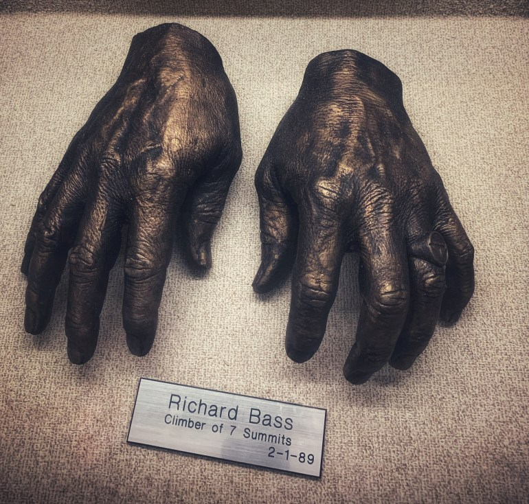 Richard Bass, Climber of 7 Summits:  The Hand Collection at Baylor Medical Center in Dallas, Texas