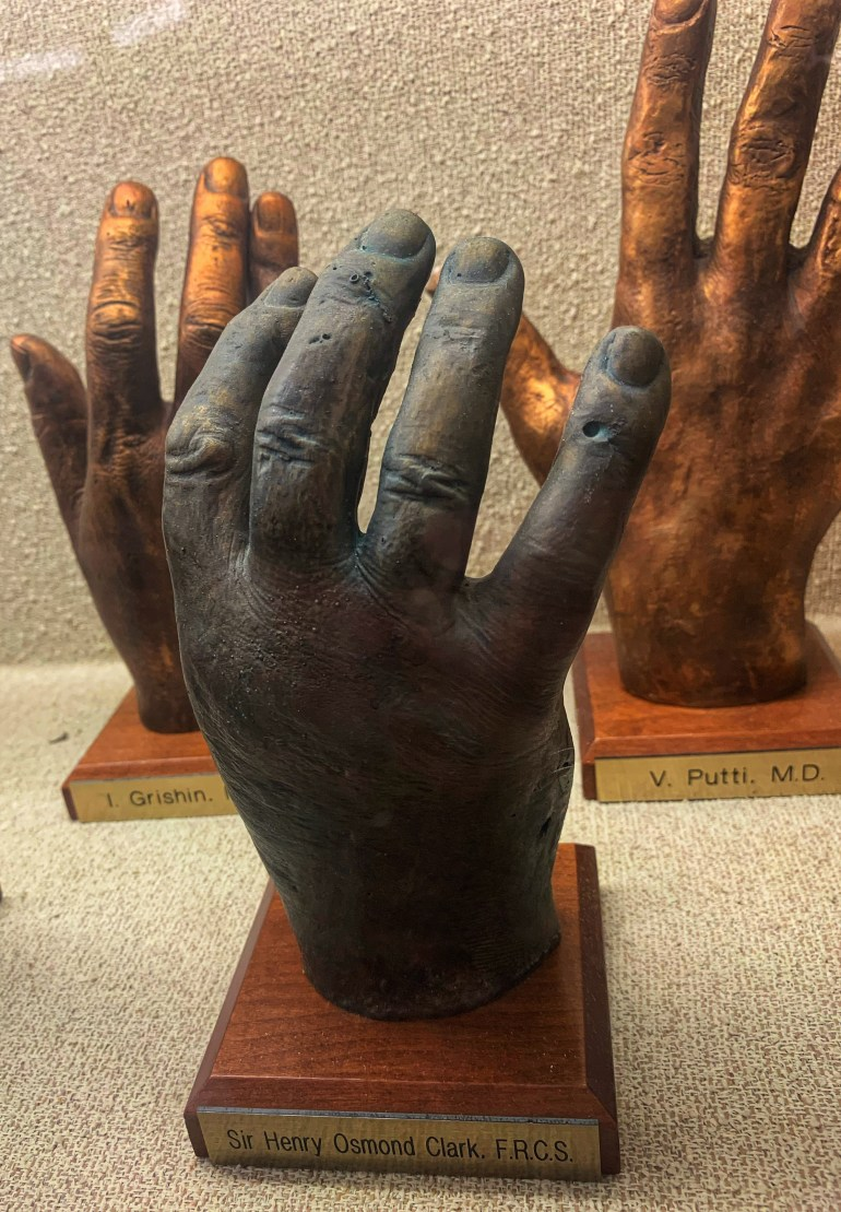 The Hand Collection at Baylor Medical Center in Dallas, Texas