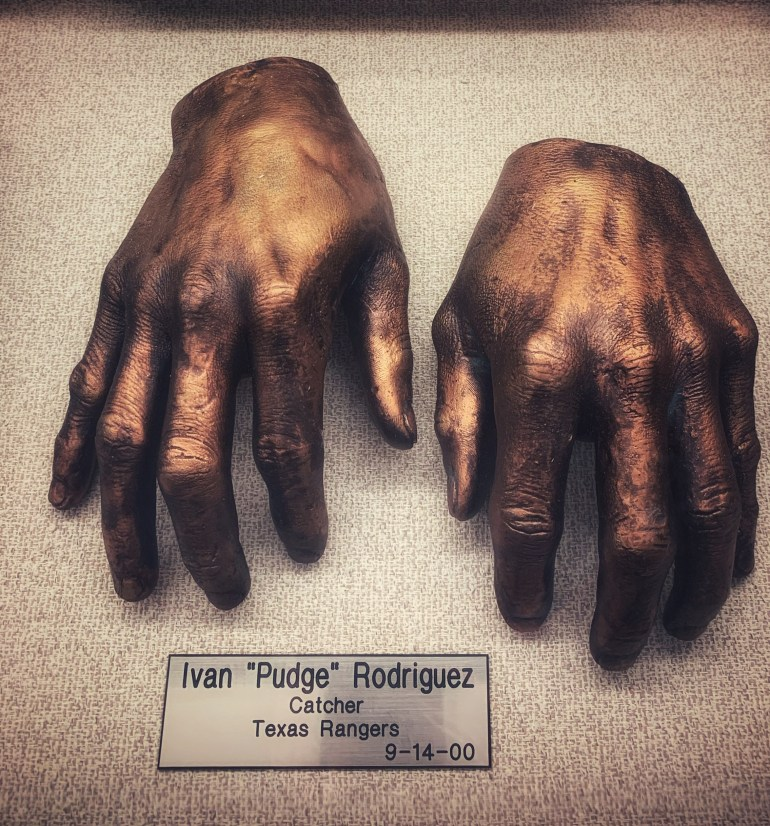 """Ivan """"Pudge"""" Rodriguez  : The Hand Collection at Baylor Medical Center in Dallas, Texas"""