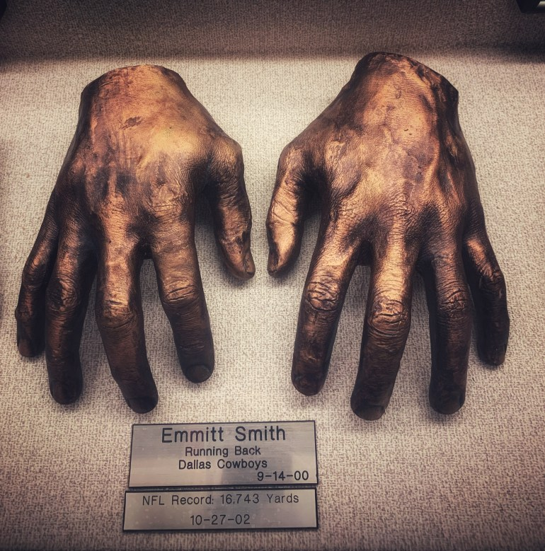 Emmitt Smith:  : The Hand Collection at Baylor Medical Center in Dallas, Texas