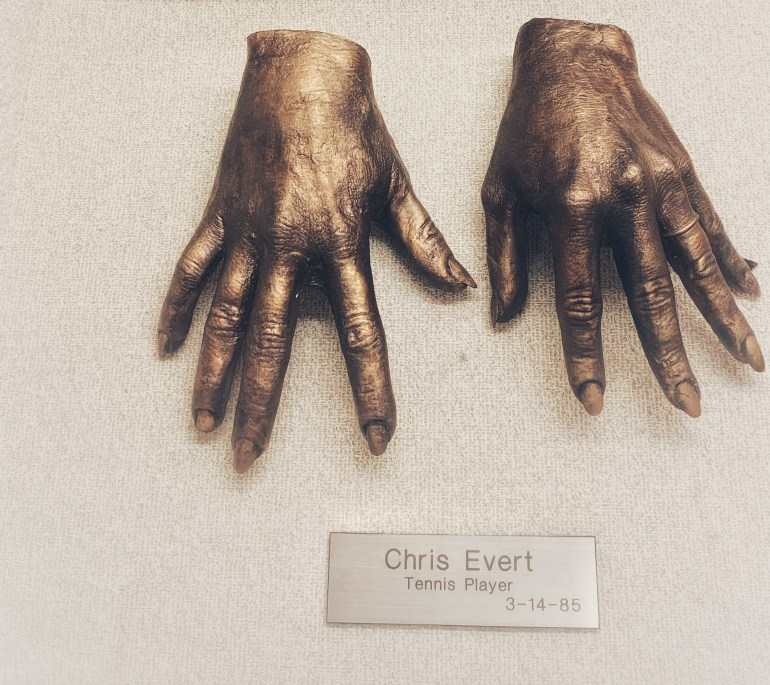 Chris Evert  : The Hand Collection at Baylor Medical Center in Dallas, Texas
