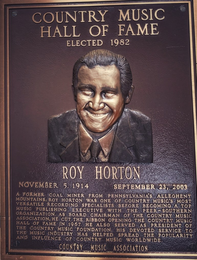 Roy Horton at the Country Music Hall of Fame in Nashville, Tennessee