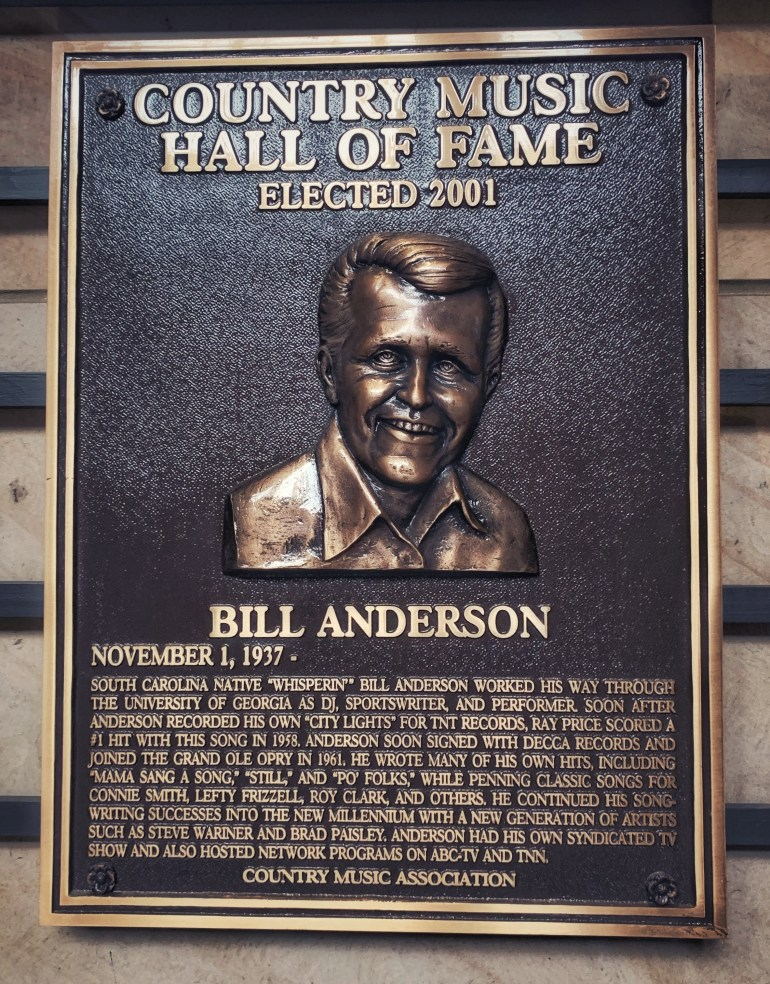 Bill Anderson at the Country Music Hall of Fame in Nashville, Tennessee