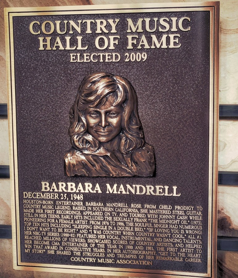 Barbara Mandrell at the Country Music Hall of Fame in Nashville, Tennessee