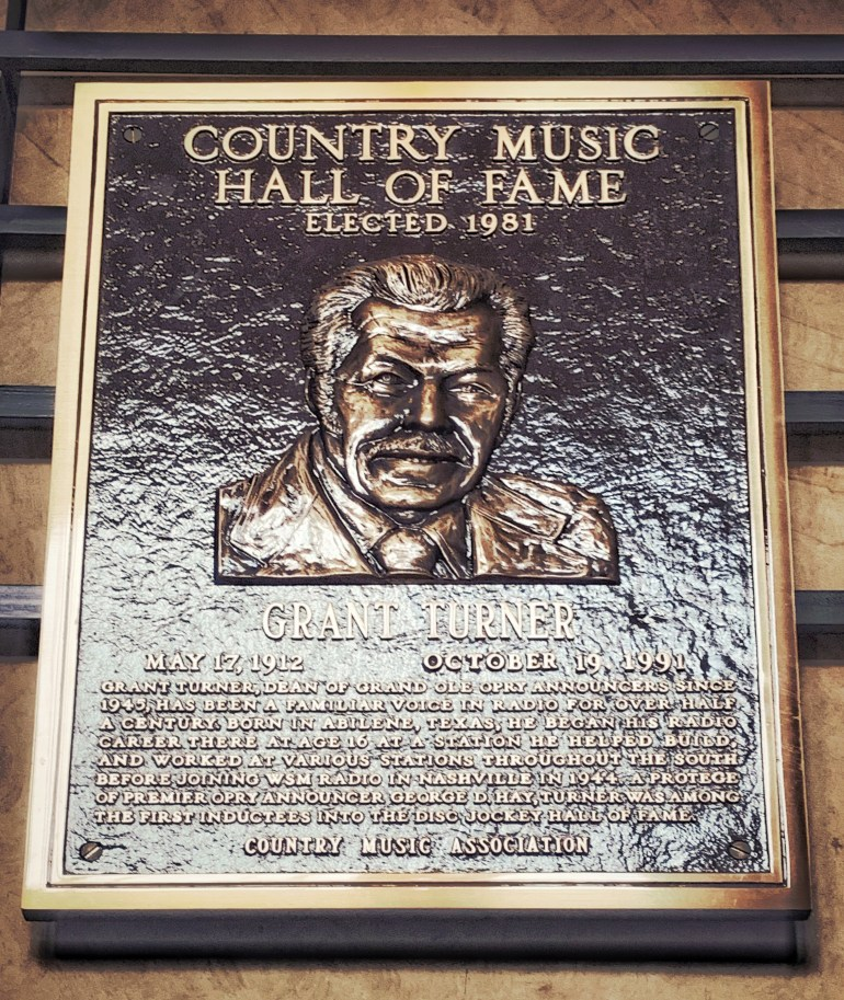 Grant Turner at the Country Music Hall of Fame in Nashville, Tennessee