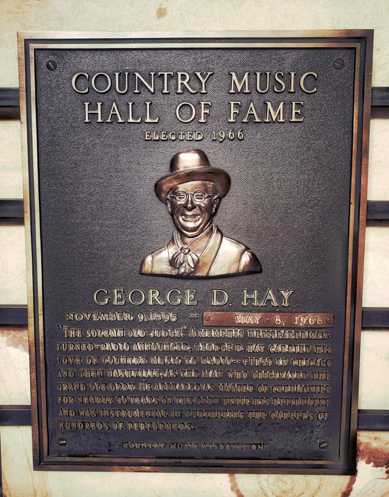 George D Hay at the Country Music Hall of Fame in Nashville, Tennessee