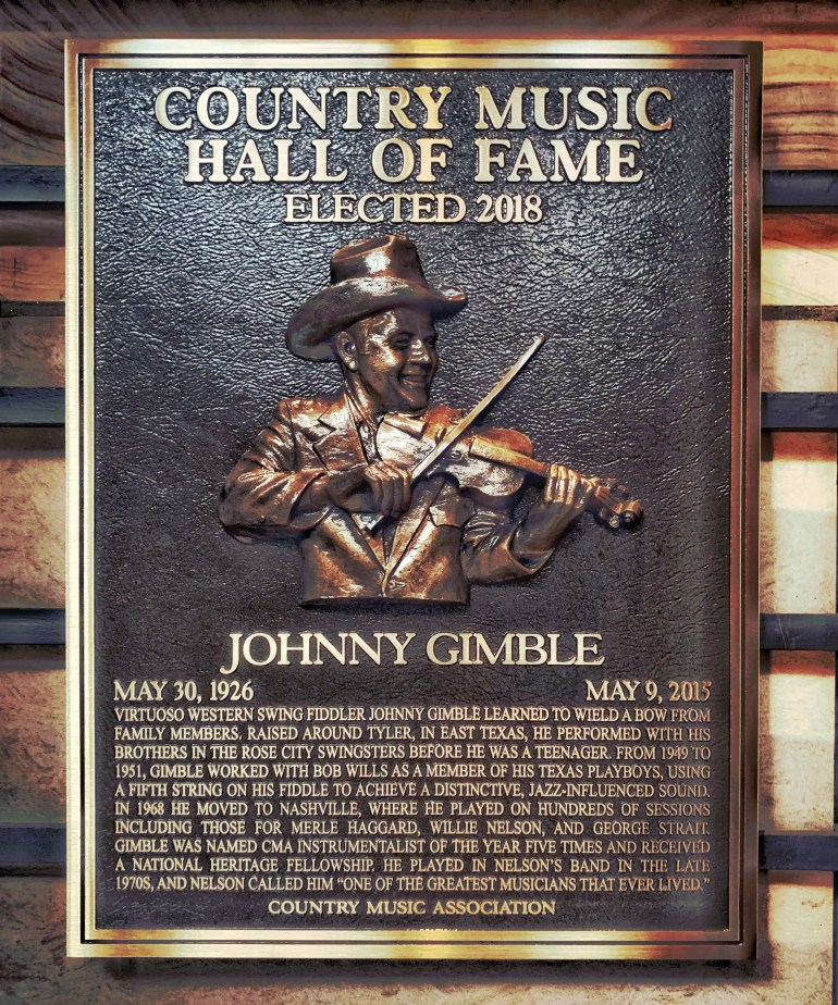 Johnny Gimble at the Country Music Hall of Fame in Nashville, Tennessee