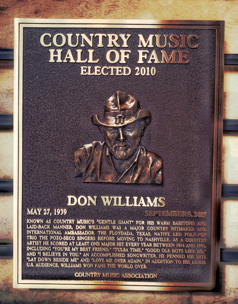Don Williams at the Country Music Hall of Fame in Nashville, Tennessee