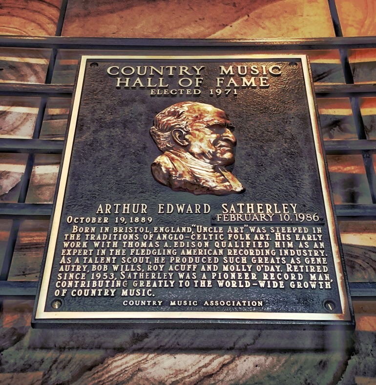 Arthur Edward Satherley at the Country Music Hall of Fame in Nashville, Tennessee