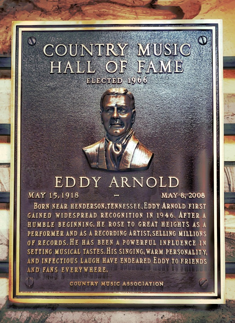 Eddie Arnold at the Country Music Hall of Fame in Nashville, Tennessee