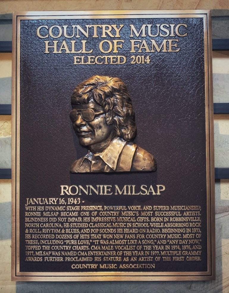 Ronnie Milsap at the Country Music Hall of Fame and Museum in Nashville, Tennessee