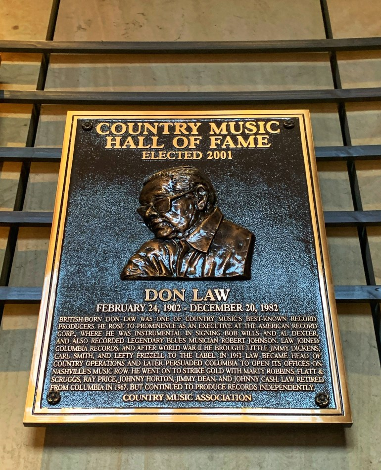 Don Law at the Country Music Hall of Fame and Museum in Nashville, Tennessee