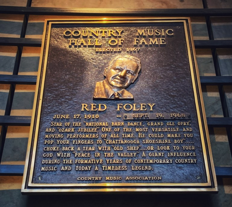 Red Foley at the Country Music Hall of Fame in Nashville, Tennessee