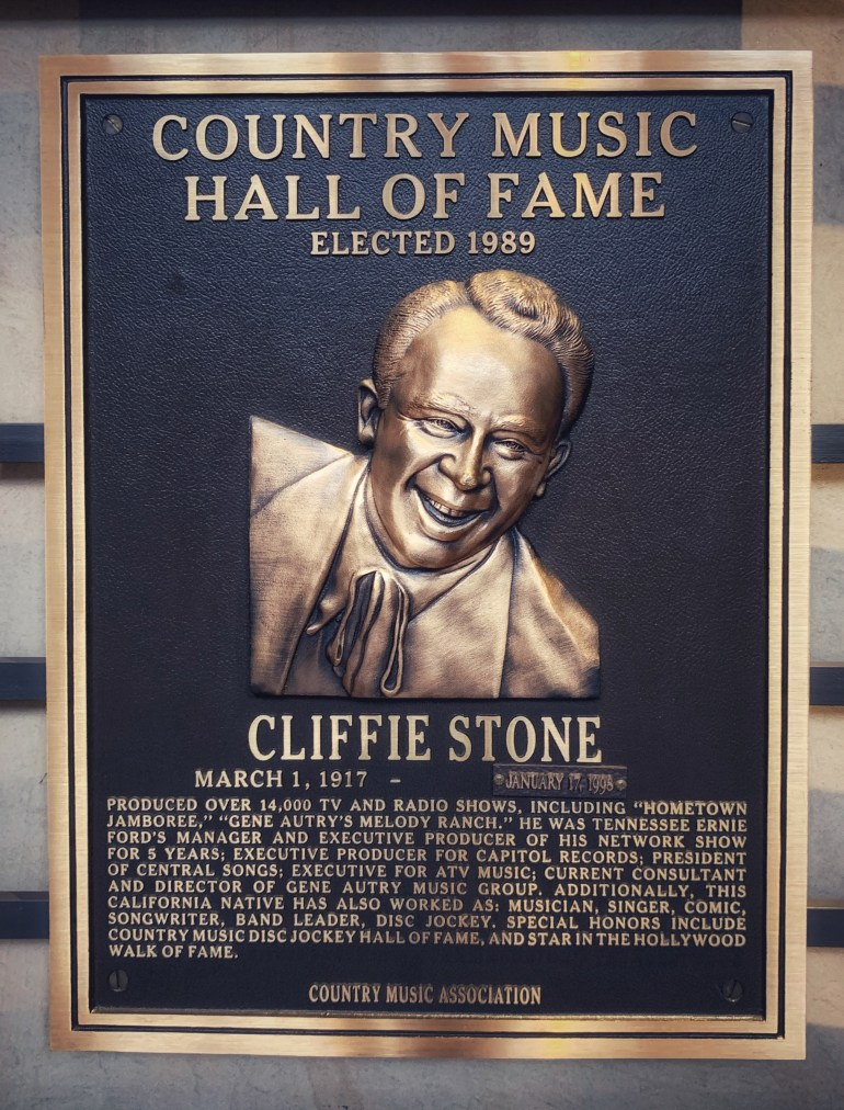 Cliffie Stone at the Country Music Hall of Fame in Nashville, Tennessee