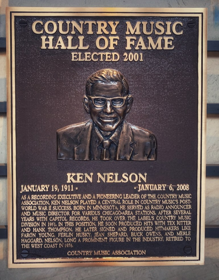 Ken Nelson at the Country Music Hall of Fame in Nashville, Tennessee