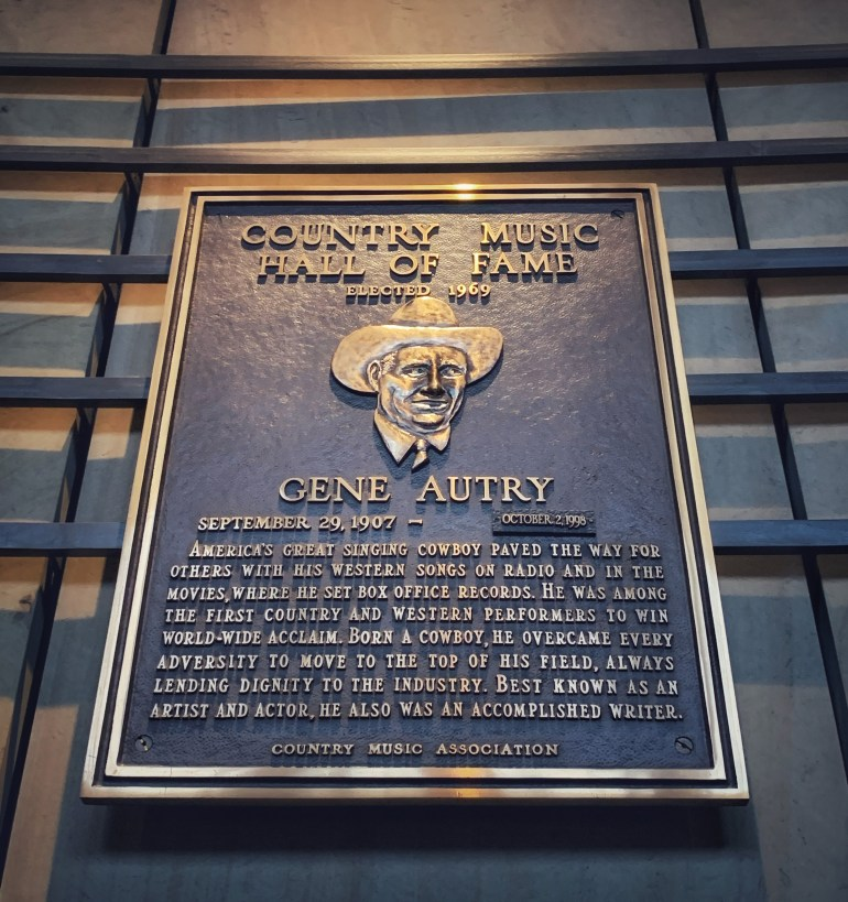 Gene Autry at the Country Music Hall of Fame in Nashville, Tennessee