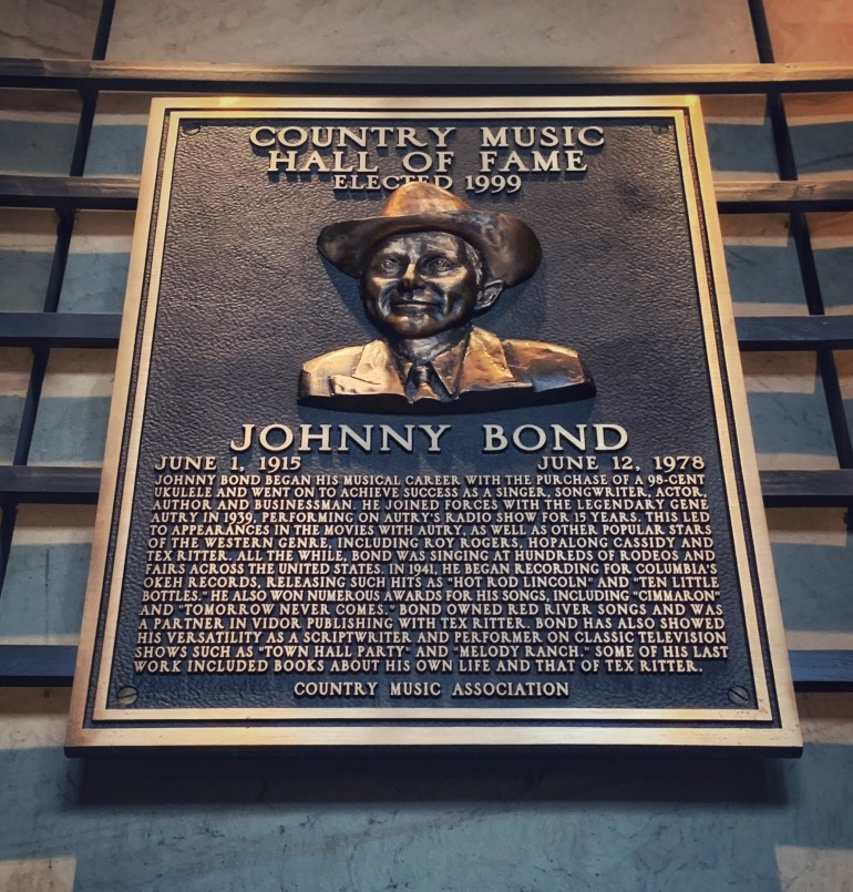 Johnny Bond at the Country Music Hall of Fame in Nashville, Tennessee
