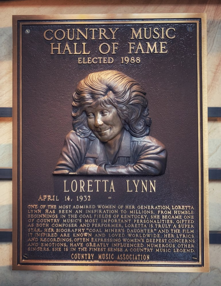 Loretta Lynn at the Country Music Hall of Fame in Nashville, Tennessee