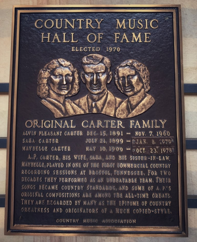 The Original Carter Family at the Country Music Hall of Fame in Nashville, Tennessee