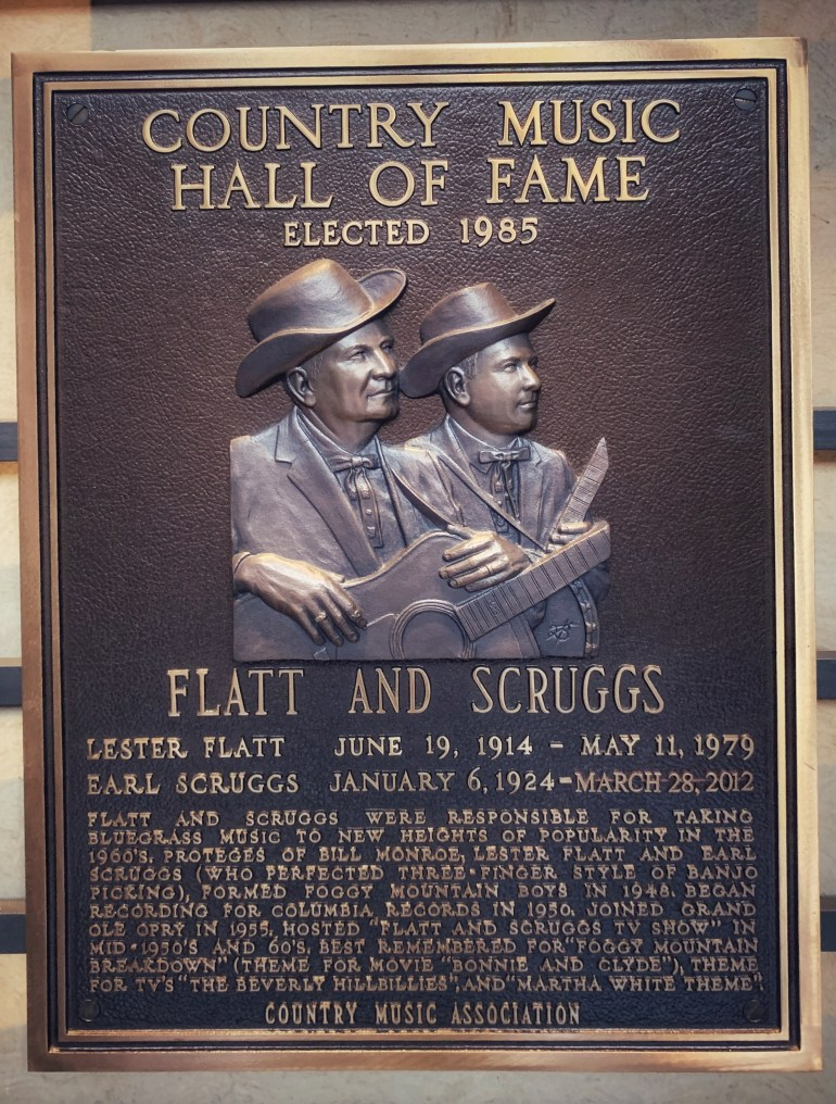 Flatt and Scruggs at the Country Music Hall of Fame in Nashville, Tennessee