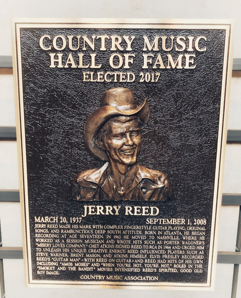 Jerry Reed at the Country Music Hall of Fame in Nashville, Tennessee