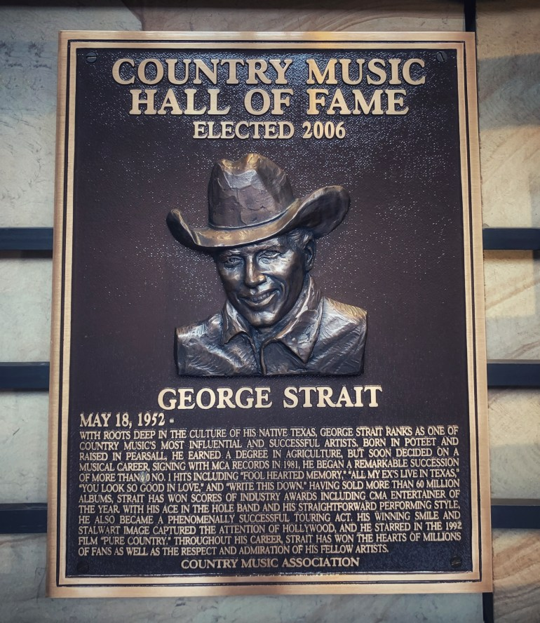 George Strait at the Country Music Hall of Fame in Nashville, Tennessee